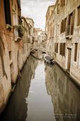 Canal and houses, Venice, Veneto, Italy