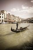 Gondola on the Grand Canal, Venice, Veneto, Italy