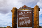 Historic marker at Abo Ruins, Salinas Pueblo Missions National Monument, New Mexico, USA