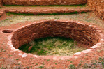 Kiva at Abo Ruins, Salinas Pueblo Missions National Monument., New Mexico, USA