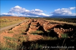 Morning light on the ruins of the Pecos Pueblo, Pecos National Historic Park, New Mexico