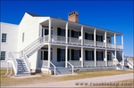 The colonial style officer's residence at Fort Laramie known as