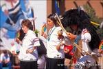 Zuni Pueblo dancers performing a deer dance, Pueblo Indian Cultural Center, Albuquerque, New Mexico