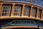 Detail of the stern on the H.M.S. Surprise at the San Diego Maritime Museum (from the film