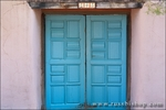 The entrance to El Zaguan historic hacienda on Canyon Road, Santa Fe, New Mexico
