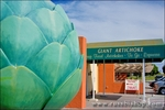Giant artichoke at the Giant Artichoke Restaurant, Castroville, California