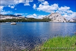 Stately Pleasure Dome from the shore of Tenaya Lake, Tuolumne Meadows area, Yosemite National Park, California