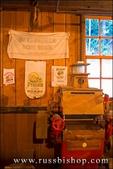 Interpretive displays inside Cedar Creek Grist Mill, Clark County, Washington