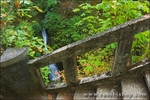 Stairs and falls at Shepperd's Dell, Columbia River Gorge National Scenic Area, Oregon
