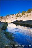 Morning light on Hot Creek near Mammoth Lakes, eastern Sierra Nevada Mountains, California