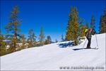 Backcountry skier near Glacier Point, Yosemite National Park, California