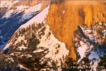 The Northwest Face of Half Dome in winter from Sentinel Dome, Yosemite National Park, California