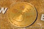 Plaque of the Hawaiian Islands with compass points at Kilauea National Wildlife Refuge, Island of Kauai, Hawaii