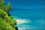 Kayak landing on Hideaways Beach, Island of Kauai, Hawaii