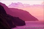 Evening light on the Na Pali Coast, Island of Kauai, Hawaii