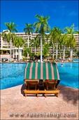 The pool at the Kauai Marriott Resort, Island of Kauai, Hawaii