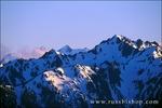 Evening light on Mount Olympus from Hurricane Ridge, Olympic National Park, Washington