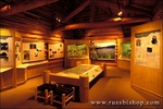 Interpretive displays at the Lolo Pass Visitor Center, Lewis & Clark National Historic Trail, Idaho