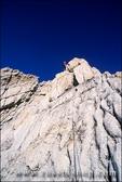 Climber on the West Ridge of Mt. Conness, Tuolumne Meadows area, Yosemite National Park, California
