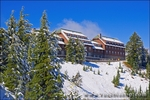 The Crater Lake Lodge in winter, Crater Lake National Park, Oregon