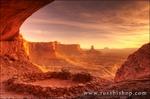 Evening light on False Kiva, Island in the Sky, Canyonlands National Park, Utah