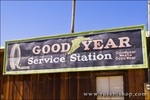 Goodyear sign at the ghost town of Randsburg, California
