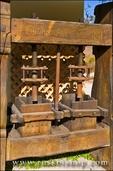 Antique wine press at Rocky Creek Cellars, Templeton, California