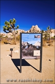 Interpretive sign at the trailhead to the Wall Street Mill, Joshua Tree National Park, California