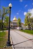 The Massachusetts State House on the Freedom Trail, Boston, Massachusetts