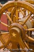 "Ships wheel, USS Constitution (""Old Ironsides"") on the Freedom Trail, Charlestown Navy Yard, Boston, Massachusetts"