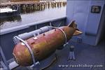 Torpedo launcher on the USS Cassin Young (National Historic Landmark), Charlestown Navy Yard, Boston, Massachusetts
