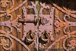 Gate detail at Scottys Castle, Death Valley National Park. California