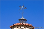 Miner and mule weather vane at Scottys Castle, Death Valley National Park. California