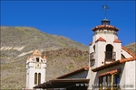 Clock tower and weather vane at Scottys Castle, Death Valley National Park. California