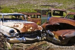 Junked cars at Scottys Castle, Death Valley National Park. California