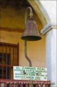 El Camino Real bell at the Santa Barbara Mission (Queen of the missions), Santa Barbara, California