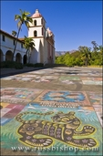 I Modinari chalk drawings at the Santa Barbara Mission (Queen of the missions), Santa Barbara, California
