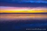 Low tide and sunset over Santa Cruz Island, Channel Islands National Park, Ventura, California