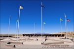 Flags at Four Corners Monument, New Mexico