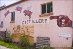 Flying Pig Distillery mural, Mancos, Colorado