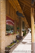 Raven House Gallery and sidewalk, Mancos, Colorado