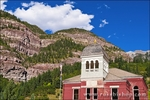 The historic Ouray County Court House, Ouray, Colorado