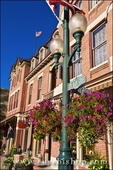 Lamp post and flowers at the historic Beaumont Hotel, Ouray, Colorado