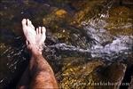 Bare feet in the San Juan River, Pagosa Springs, Colorado