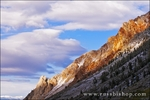 Evening light on ridge in Bishop Creek Canyon, Inyo National Forest, Sierra Nevada Mountains, California USA