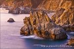 Evening light on the Big Sur coast, Julia Pfeiffer Burns State Park, California