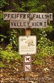 Pfeiffer Falls sign, Pfeiffer Big Sur State Park, Big Sur, California