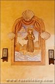 Wall painting, Mission San Antonio de Padua (3rd California Mission - 1771), California