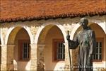 Father Serra statue, Mission San Antonio de Padua (3rd California Mission - 1771), California