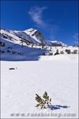 Sierra peaks below Piute Pass in winter, Inyo National Forest, Sierra Nevada Mountains, California